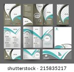 global business stationery set... | Shutterstock .eps vector #215835217
