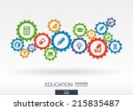 education mechanism concept.... | Shutterstock .eps vector #215835487