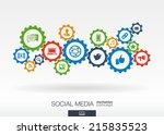 social media mechanism concept. ... | Shutterstock .eps vector #215835523