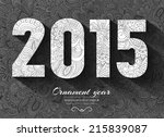 hand drawn new year 2015 ... | Shutterstock .eps vector #215839087