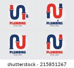 plumbing business icon vector... | Shutterstock .eps vector #215851267
