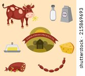 farm products vector icons set | Shutterstock .eps vector #215869693