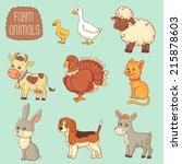 farm animals | Shutterstock .eps vector #215878603