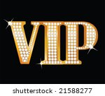 vip gold letters with diamonds | Shutterstock . vector #21588277