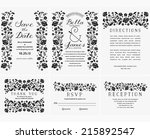 floral wedding invitation... | Shutterstock .eps vector #215892547