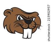 beaver face   Shutterstock .eps vector #215902957