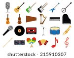 A Set Of Musical Instruments O...