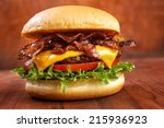 Bacon Burger With Beef Patty O...