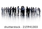 silhouettes of business people... | Shutterstock . vector #215941303