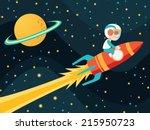 rocket boy | Shutterstock .eps vector #215950723