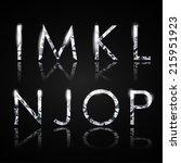 diamond alphabet letters  from... | Shutterstock .eps vector #215951923