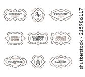 monochrome geometric vintage... | Shutterstock .eps vector #215986117
