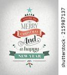 happy holidays message with... | Shutterstock .eps vector #215987137
