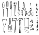 tools collection | Shutterstock .eps vector #215989957