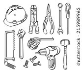 tools collection | Shutterstock .eps vector #215989963