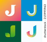 vector illustration letter j set | Shutterstock .eps vector #215995963