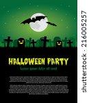 halloween party   Shutterstock .eps vector #216005257