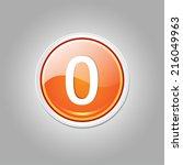 0 number circular vector orange ... | Shutterstock .eps vector #216049963