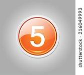 5 Number Circular Vector Orang...