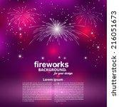 Celebratory Fireworks On A...