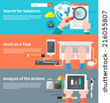 search for solutions... | Shutterstock .eps vector #216055807
