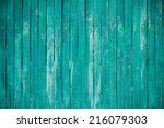 texture of a green wooden... | Shutterstock . vector #216079303
