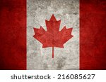 Canadian Flag On The Grunge...