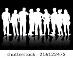 group of people | Shutterstock .eps vector #216122473