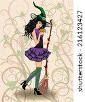album,background,banner,body,broom,brunette,carnival,costume,cover,cute,dress,elegant,enchanted,evil,fairy