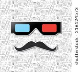 hipster mustache and  cinema...