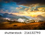 amazing mountain landscape with ... | Shutterstock . vector #216132793