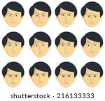 facial expressions  ... | Shutterstock . vector #216133333