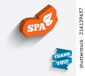 spa sign icon. spa leaves... | Shutterstock . vector #216139657