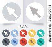 mouse cursor sign icon. pointer ...   Shutterstock . vector #216140743