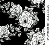 floral seamless pattern with... | Shutterstock .eps vector #216162103