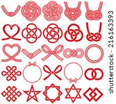 mizuhiki and japanese family... | Shutterstock .eps vector #216163393