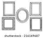 elegant ornate frames | Shutterstock .eps vector #216169687
