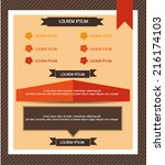 info graphic element design  | Shutterstock .eps vector #216174103
