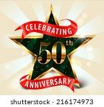 50 year anniversary celebration ... | Shutterstock .eps vector #216174973