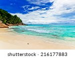 tropical beach. the seychelles | Shutterstock . vector #216177883