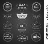 vintage vector design elements. ... | Shutterstock .eps vector #216178273