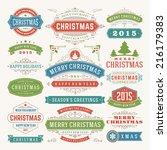 christmas decoration vector...   Shutterstock .eps vector #216179383