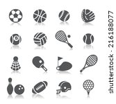 sport icons | Shutterstock .eps vector #216188077