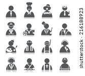 occupation icons | Shutterstock .eps vector #216188923