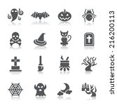 halloween element icons | Shutterstock .eps vector #216200113