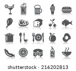 food and drinks icons | Shutterstock .eps vector #216202813
