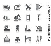 construction icons | Shutterstock .eps vector #216208717