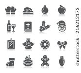 christmas element icons | Shutterstock .eps vector #216212173