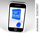 buy online bag displaying... | Shutterstock . vector #216219817