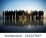 group of business people in... | Shutterstock . vector #216227647